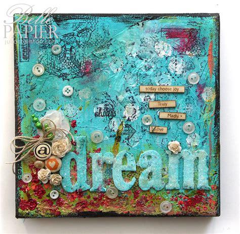 Wall Mural Stencils dream a little dream a mixed media canvas belle papier