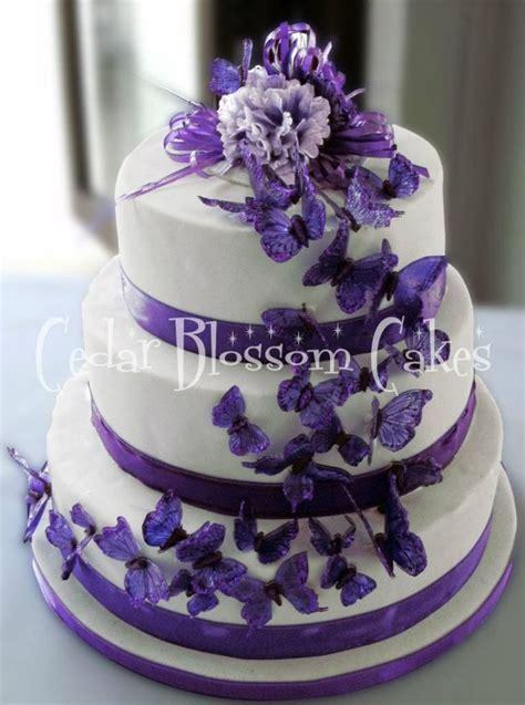 25  best ideas about Purple butterfly cake on Pinterest