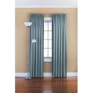 Walmart Room Darkening Curtains Mainstays Solid Room Darkening Curtain Panel Walmart Com