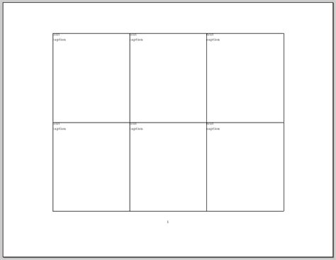 paper sections minipage how to split a page in six equally sized