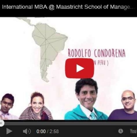 Mba Or Msm by Maastricht School Of Management