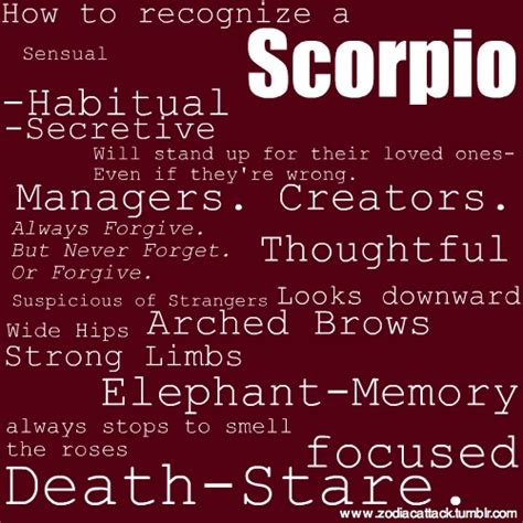 how to recognize a scorpio get in depth info on scorpio
