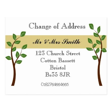 change address cards template change of address cards change of address card templates