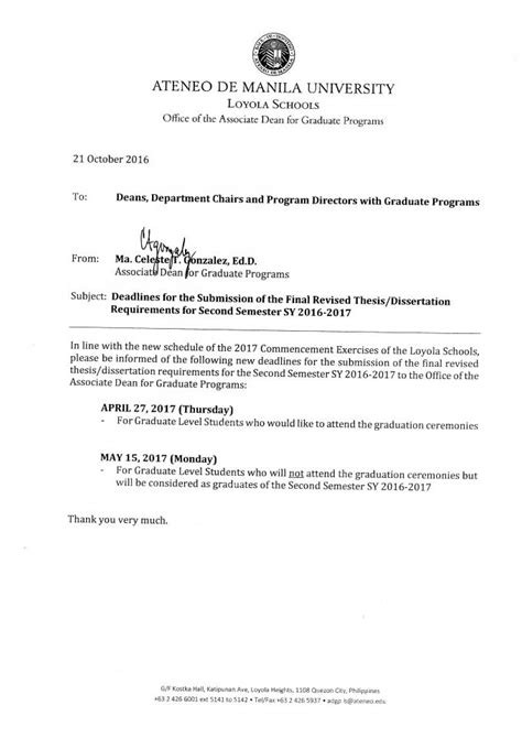 Mba Ateneo Requirements by Phd Thesis Requirements Phd Degree Requirements The
