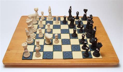 Handmade Chess Boards - 1000 images about clay chess on lotr