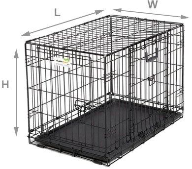 what size crate measuring your for a crate