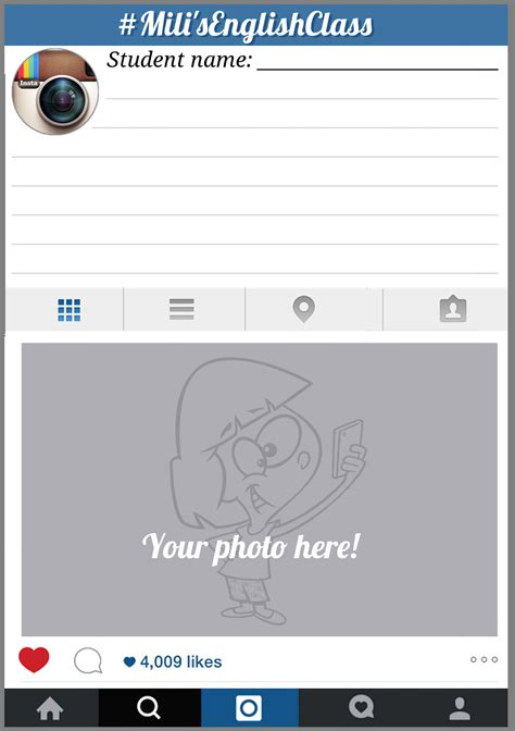 your english drawer plantilla instagram picture