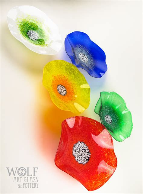 blown glass wall blown glass wall sculptures flowers rondels at