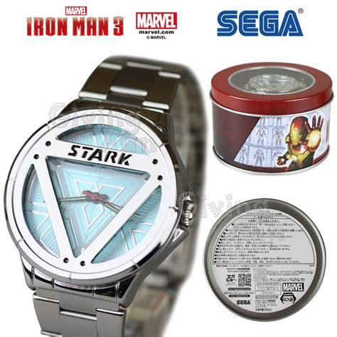 sega marvel iron man stark arc reactor stainless steel