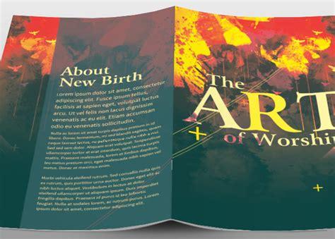 The Art Of Worship Church Bulletin Brochure Templates On Creative Market Worship Bulletin Template