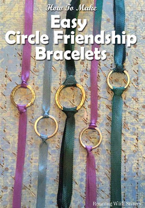 circle friendship bracelet running  sisters