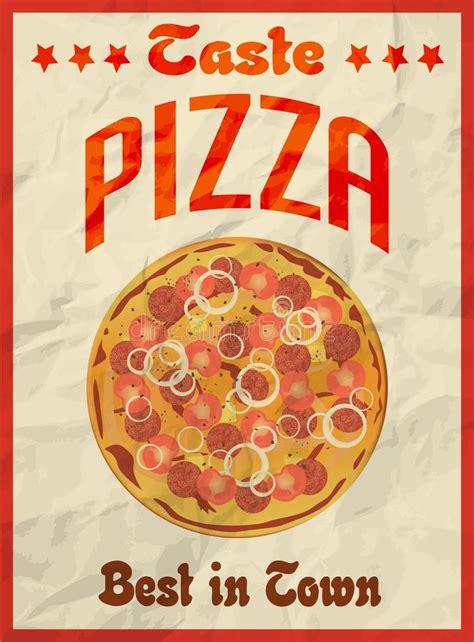 affiche cuisine retro finest affiche de vintage de pizza rtro sur le papier