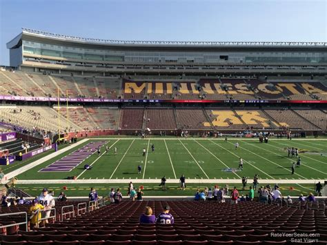 bank sections tcf bank stadium section 113 minnesota football