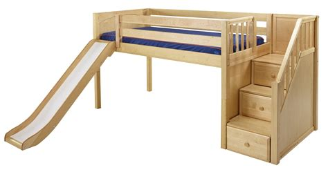 Loft Bed Stair Maxtrix Low Loft Bed W Staircase On End Slide