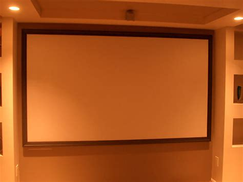 diy projection screen frame diy home theater screen in 10 steps
