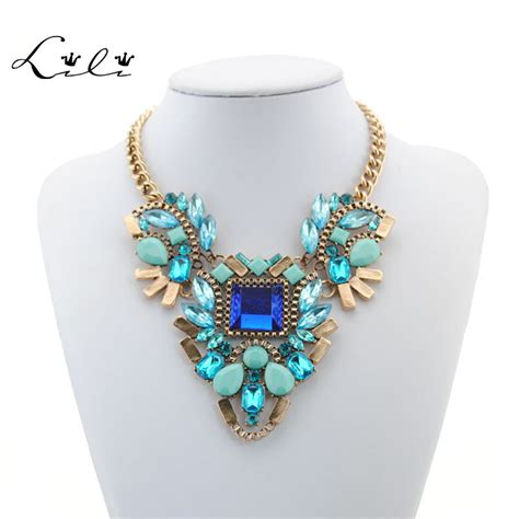 Kalung New Fashion Charm Jewelry Pendant Chain Chunky State 1 2015 new necklace design fashion chunky necklace choker necklaces pendants statement jewelry