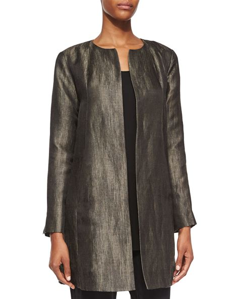 swing jacket eileen fisher long sleeve herringbone swing jacket in