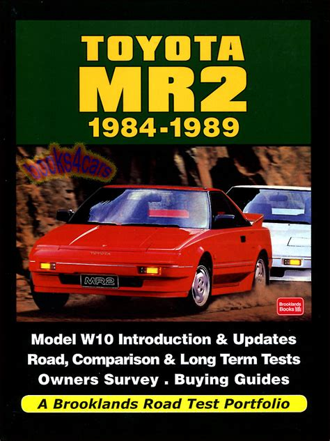 Toyota Mr2 Performance Figures Toyota Mr2 Portfolio Book Brooklands Buyers Guide Supercharged