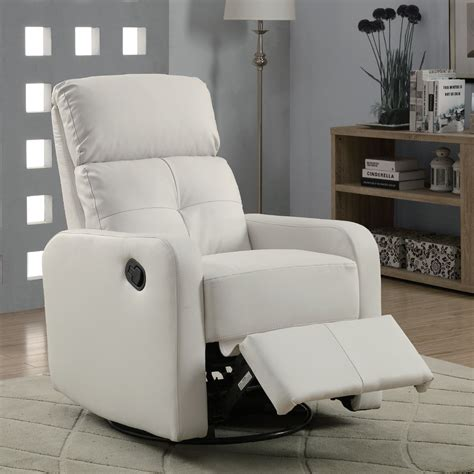 white leather swivel recliner damen white leather glider recliner living room furniture