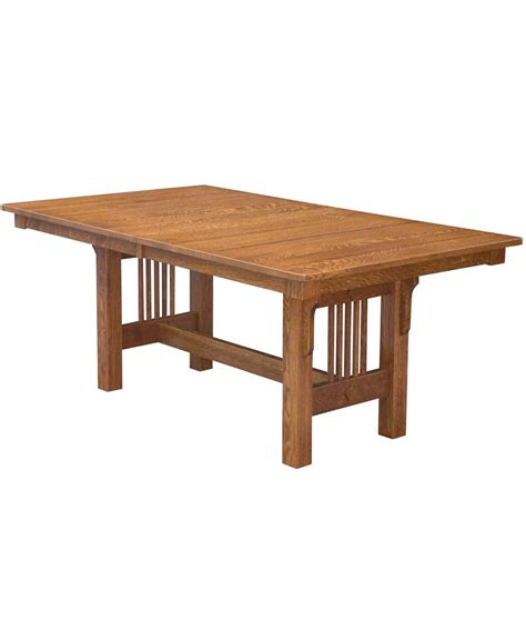 Dining Table Trestle Trestle Mission Dining Table Amish Direct Furniture