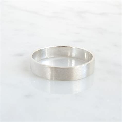 simple silver ring basic silver wedding ring jewelry