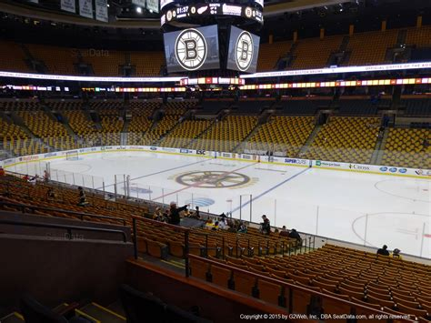 how many seats in the td garden td garden section 107 boston bruins rateyourseats