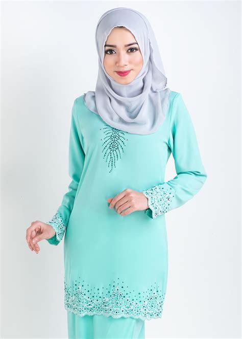 Baju Jubah Warna Green Mint baju kurung moden lace sophea mint green