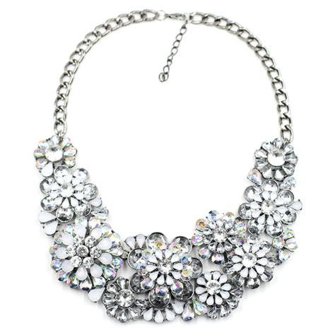 silver hydrangea borealis cluster chunky chain
