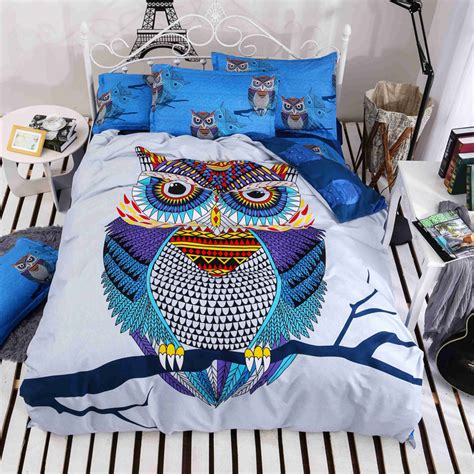 kids cotton comforter 4 3pcs cotton bedding kids owl s boys girls owl bedding