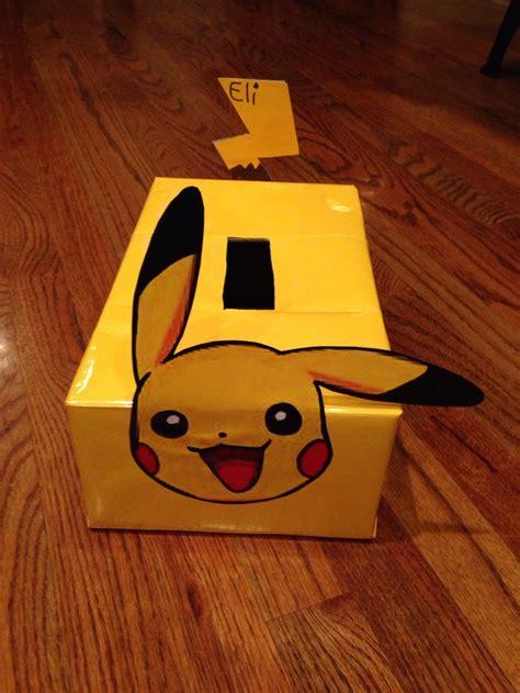 pikachu valentines day box fun  pinterest
