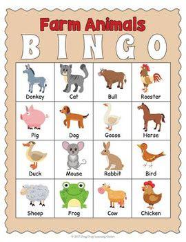 printable animal bingo games printable farm animals bingo game by drag drop learning
