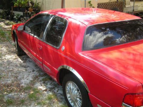 old car owners manuals 1996 mercury cougar interior lighting find used 1996 mercury cougar xr 7 v 6 63 000 miles real classic red and tan interior in lorida