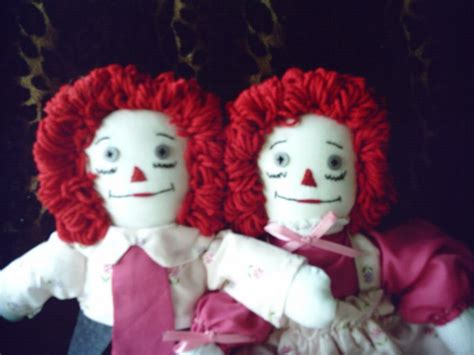 Handmade Raggedy And Andy Dolls - handmade raggedy and andy cloth doll set ooak one of a
