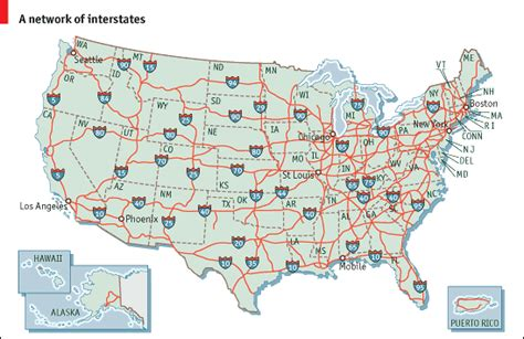 map of the united states with major highways re america the future of u s railroads part 2