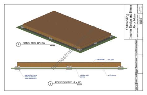 ground flat deck plan   blueprint