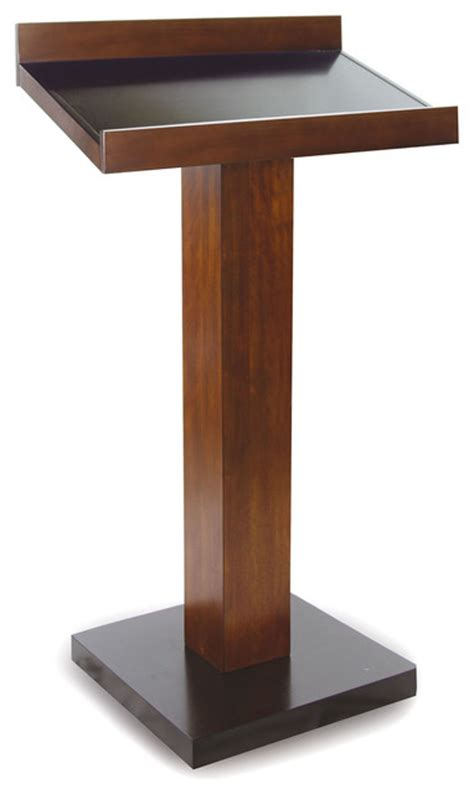 Espresso & Oak Two Tone Accent Book Table Stand W/ Reeded