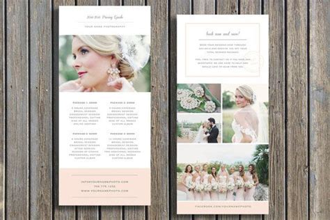 Wedding Photographer Pricing Guide Template   Vista Print
