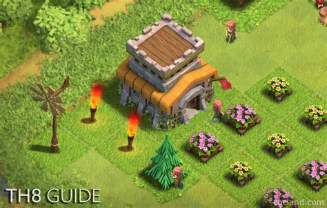 th8 layout coc guide ultimate town hall 8 guide no grind no shine coc land
