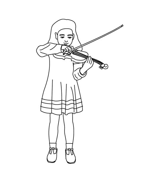 playing violin coloring page coloring pages playing the violin