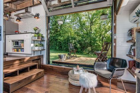 tiny house with deck space efficient tiny house inside ideas with pictures