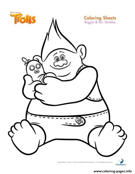 biggie and the disastrous dreamworks trolls books print biggie and mr dinkles trolls coloring pages trolls