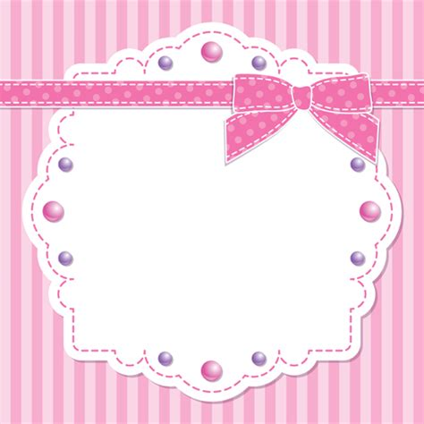 Pink Card pink style kid card designs vector 03 free