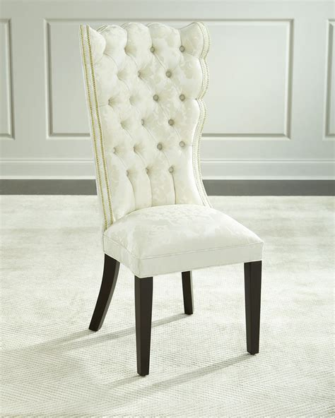 Damask Dining Chair - haute house pantages damask dining chair ivory neiman