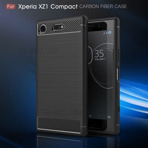 Sony Xperia Xz Carbon Brushed Armor Soft Casing Co Berkualitas carbon fiber texture brushed mobile tpu for sony xperia xz1 compact black tvc mall