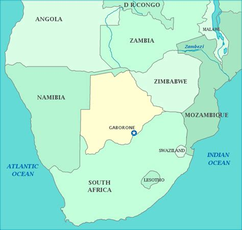 yourchildlearns africa map htm map of south africa botswana and zambia