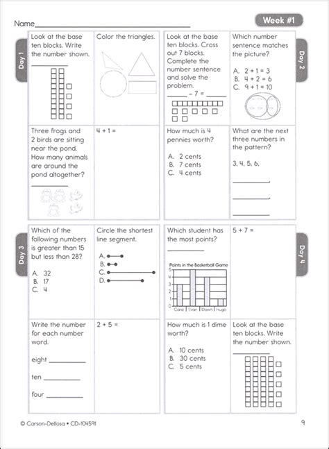 Envision Math Kindergarten Worksheets by Envision Math 2nd Grade Placement Test Envision Math 5th Grade Topic 2 Test Pearson 6