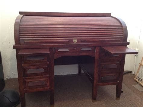 1940 s standard mahogany roll top desk for sale antiques