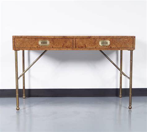 burl wood desk vintage burlwood desk by mastercraft at 1stdibs