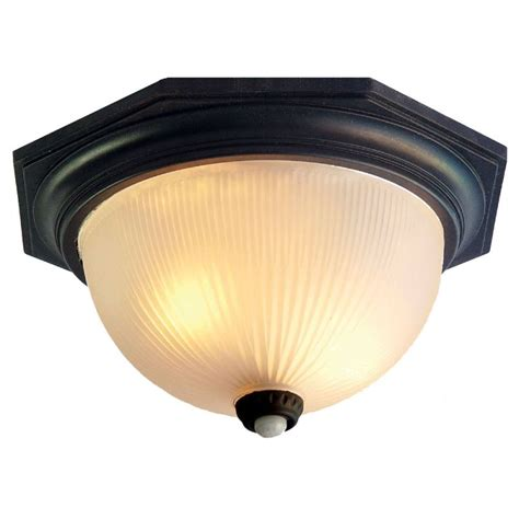 Outdoor Ceiling Lights With Motion Sensors Acclaim Lighting 75bkm Matte Black Outer Banks 2 Light 14 Quot Width Outdoor Flushmount Ceiling