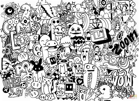 Free Doodle Coloring Pages Coloring Home